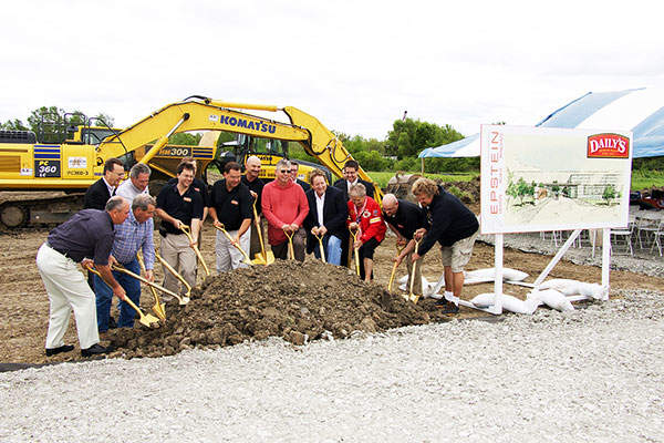 The groundbreaking ceremony for the pork processing plant was held in May 2015. Image: courtesy of Epstein.