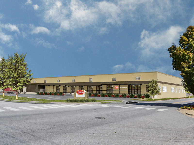 The JTL Building located at 516 E. Emma was also renovated. Image courtesy of Tyson Foods, Inc.