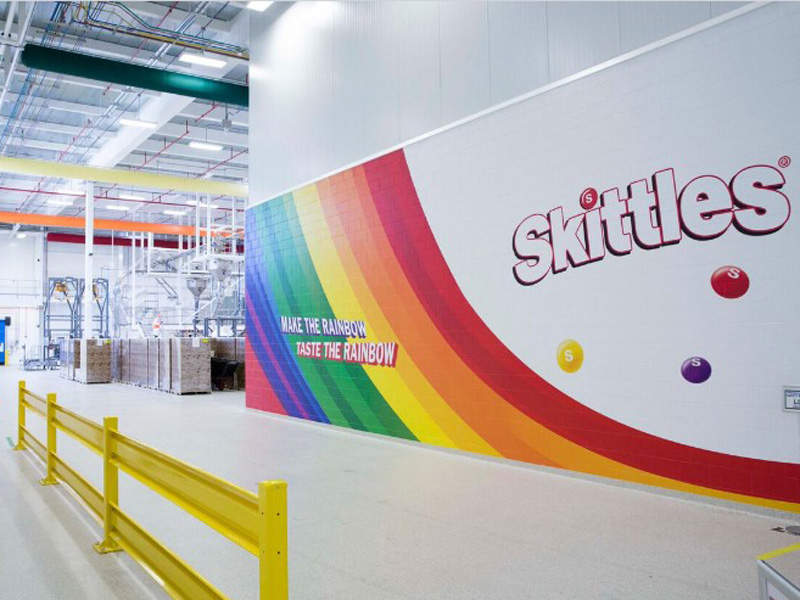 Construction on the new Skittles production line began in June 2014. Image courtesy of Gray Construction.
