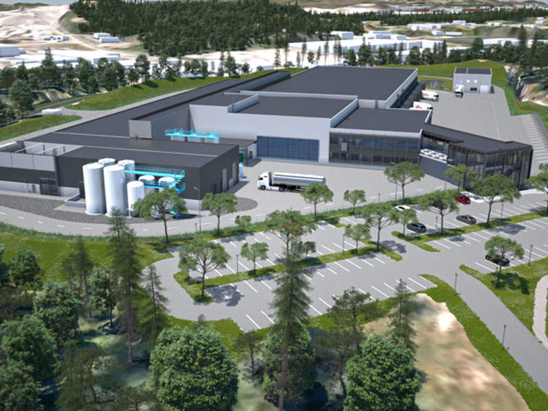 The new dairy plant will be spread over 18,000m² area. Image courtesy of AF Gruppen.