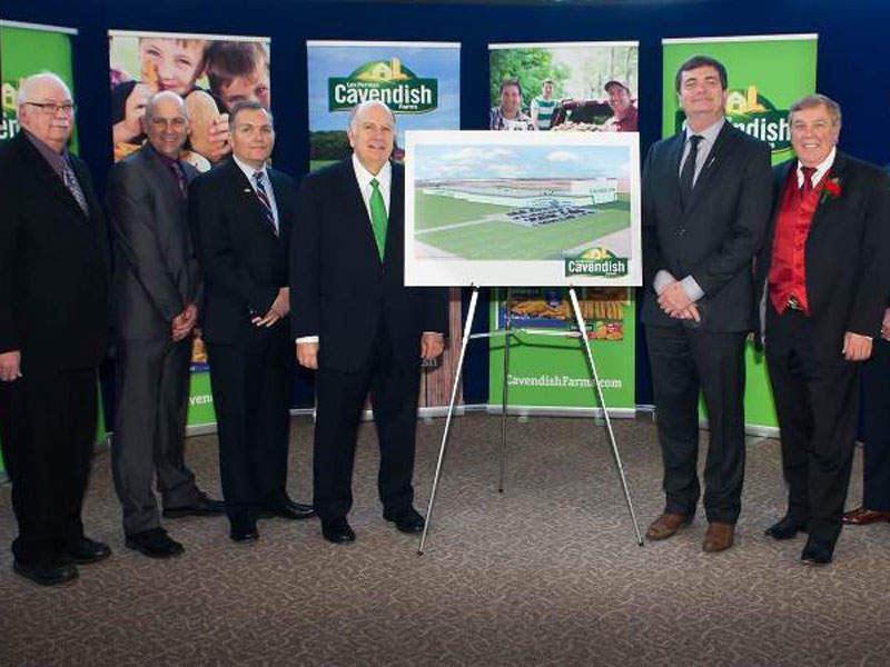 The new plant will triple Cavendish Farms' annual production capacity. Image courtesy of J.D. Irving.