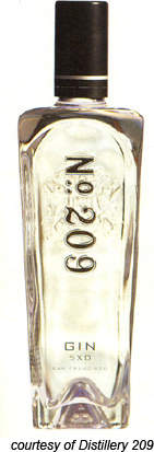 The premium 209 gin is distilled five times for extra purity and all ingredients are used once.