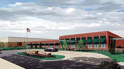 An artist's rendering of the new facility.