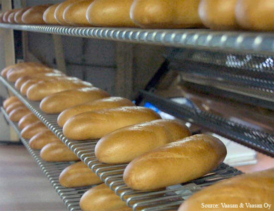 Bread cooling prior to packaging; several new production lines are likely in the future.