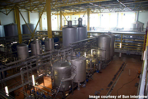 The brewhouse now needs to be commissioned to achieve its full production.