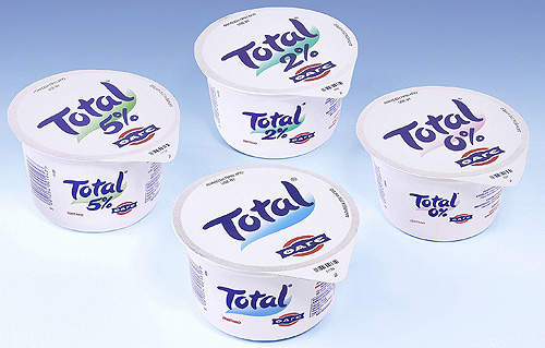 Fage produces 0%, 2%, 5% and 10% fat content yogurts in different flavours.