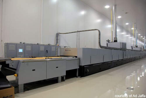 The hybrid oven supplied by Baker Perkins can bake to any product specification required at the Ad Jaffa facility.
