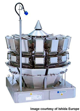 The Ishida 14-head weigher is crucial to a rapid process.