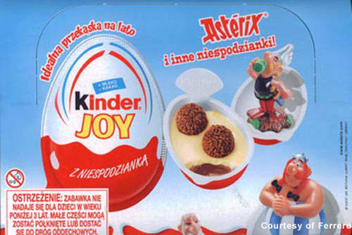 The Kinder Joy brand (promoting its Asterix campaign).