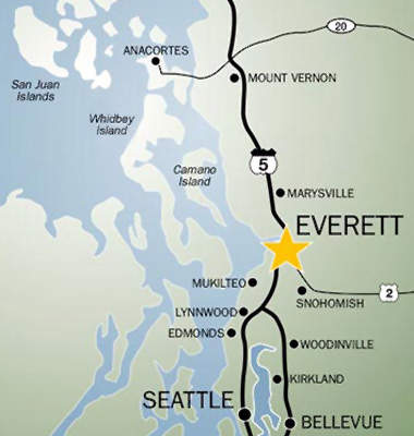 Everett is well placed in Washington State for transport and distribution.