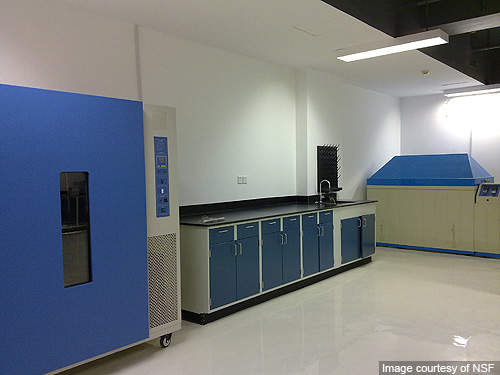 The chemistry lab of the food testing centre.