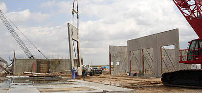 Further construction on the new plant.
