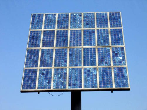 Solar energy is one of several energy initiatives at the plant.