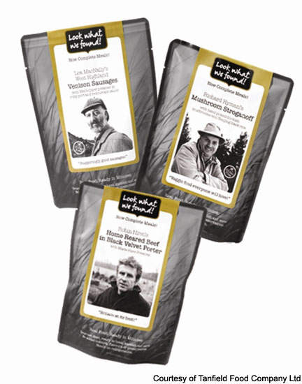 Ready meals from Tanfield are produced in shelf-stable laminated pouches.