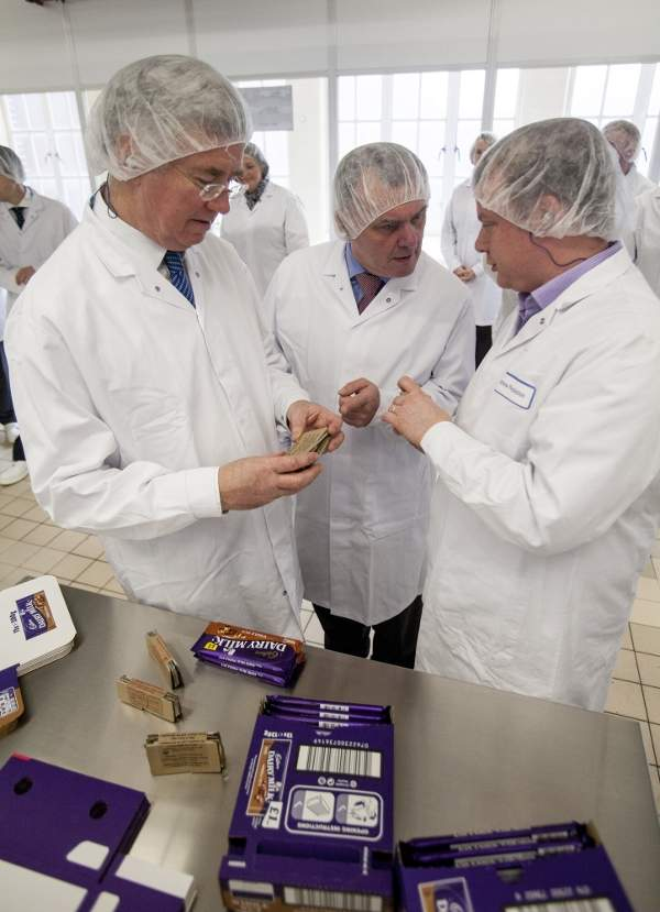 Mondelez International's brand portfolio includes Cadbury and Cadbury Dairy Milk. Image courtesy of Michael Fallon, Department for Business, Innovation and Skills.