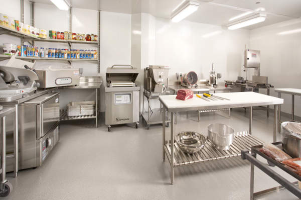 Beef fabrication room for product cutting and beef yield testing. Image: courtesy of Canada Beef.