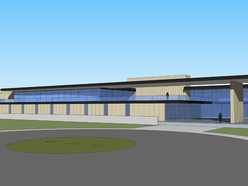 Artist's rendering of the new pork processing plant in Wright County. Credit: Epstein.