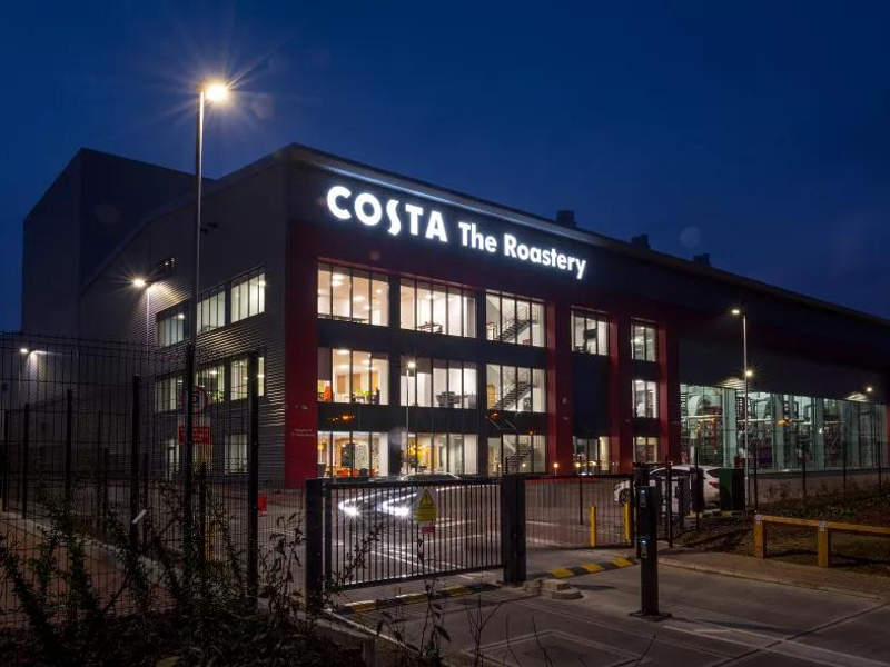 The facility has achieved BREEAM Outstanding benchmark during the design assessment stage. Image courtesy of Costa.