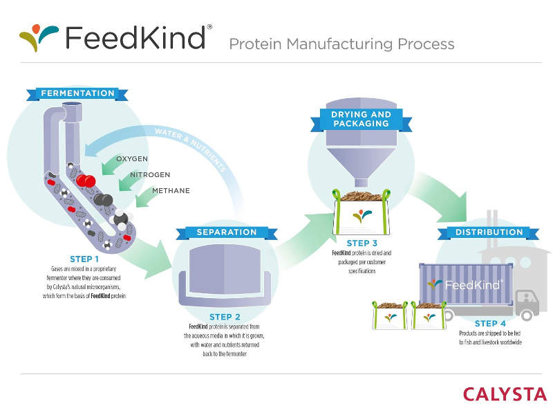 FeedKind® protein will be produced through a patented gas fermentation process. Image courtesy of Calysta.