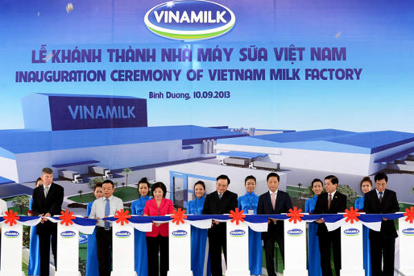 The Vietnam Milk Factory, located at My Phuoc Industrial Park in Binh Duong, was opened in September 2013.