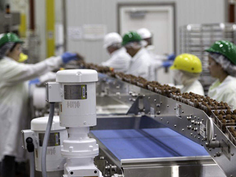The cookie production line at Enjoy Life Foods' new facility can produce 7.1 million cookies a month. Image courtesy of Gray Construction.