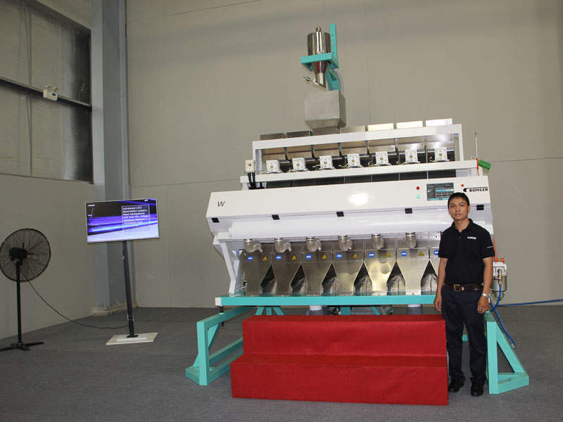 A new high-precision rice sorter known as Buhler W Sorter was also released during the factory launch. Image courtesy of Buhler AG.
