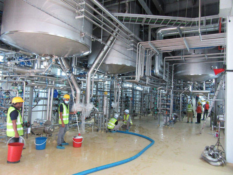 The Malaysian stevia plant features state-of-the-art equipment for efficient extraction of stevia ingredients. Image courtesy of PureCircle.