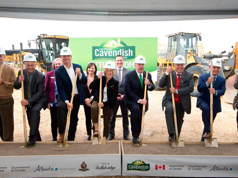 Ground-breaking for the construction of the facility took place in September 2016. Image courtesy of Alberta Government.