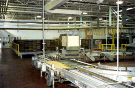 The expansion included two pan stackers and two pan unstackers from Stewart Systems, and a pan handling system from Workhorse Automation.