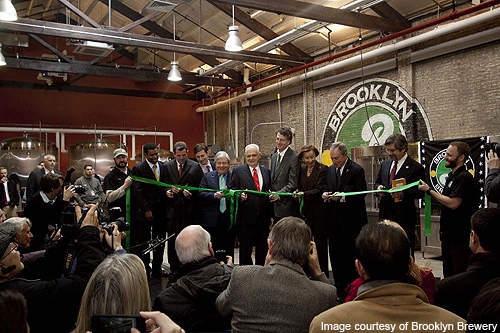 The official opening of the Brooklyn Brewery was held on 14 February 2011.