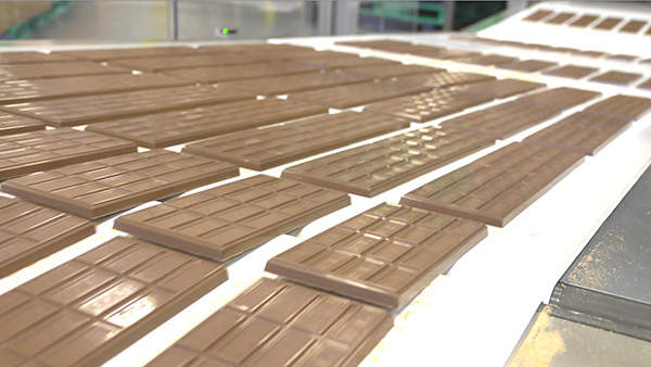 The Hershey Company manufactures and distributes a broad line of chocolate,