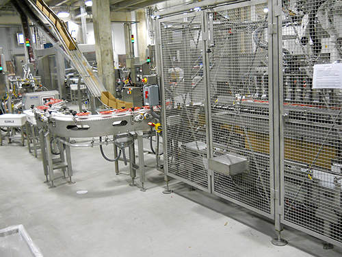 The packaging line at the Sara Lee plant.