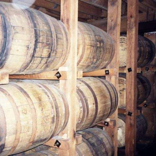 Whisky barrels storing the malt during maturation.