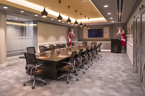 The boardroom has capacity to accommodate 30 people. Image: courtesy of Canada Beef.