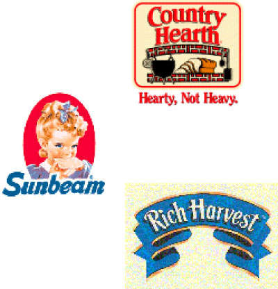 Some of the major brands of the ButterKrust Bakery.