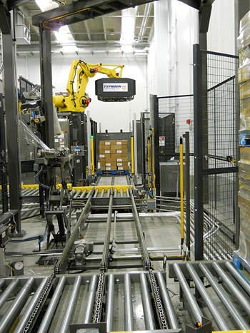 The Kansas plant's auto-palletiser.