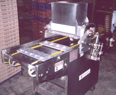 World type wire cutting cookie machine used to form the dough into accurate shapes prior to baking.