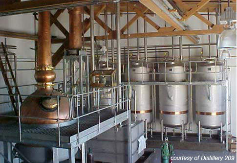 The still was hand built from hand-hammered copper and is nearly 25ft high, making the large size of the facility essential to the gin-making process.