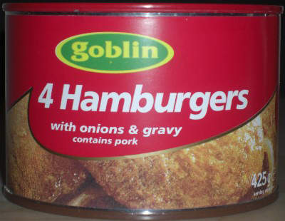 Goblin brand hamburgers a great favourite for the UK market.