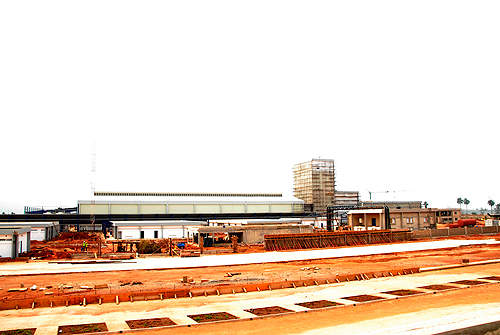 The plant during construction.