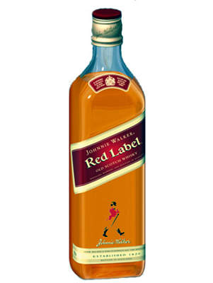 One of Diageo's best-selling blended whisky brands, Johnnie Walker Red Label.