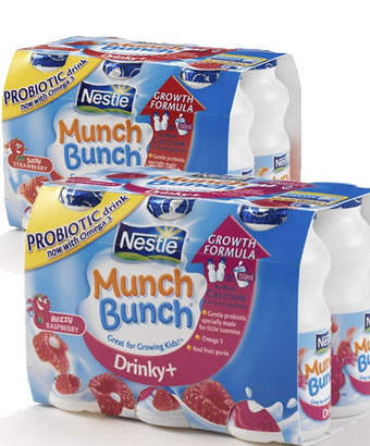 Munch Bunch yoghurt products produced at the Cuddington plant.