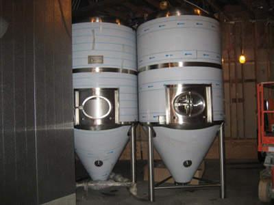 Twin fermentation vessels from Europe.