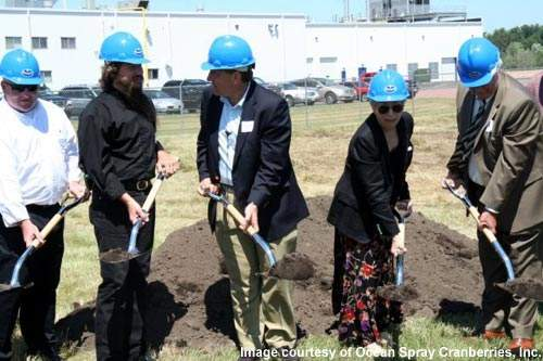 Groundbreaking of the phase 2 expansion in Wisconsin occurred in March 2008. The expansion is set to up Ocean Spray's production of craisins.