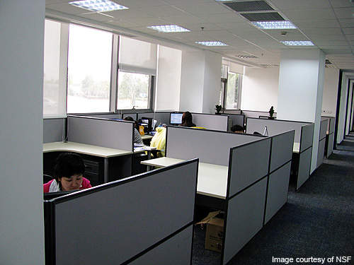 Cubicle and office area of the laboratory.