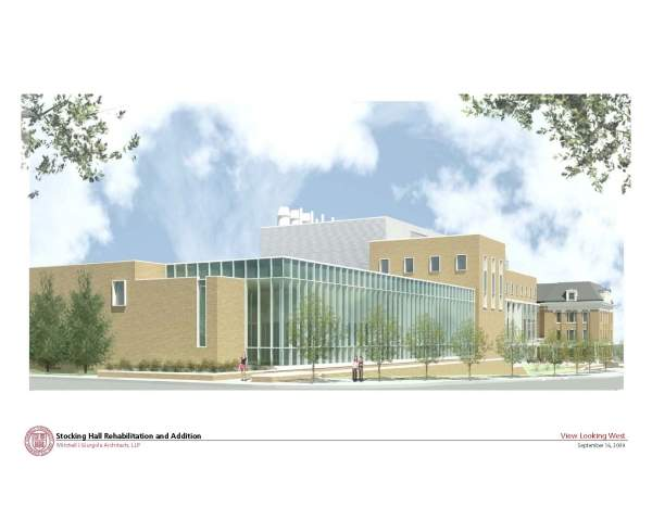 Rendering of the CALS Stocking Hall looking west. Image courtesy of Mitchell / Giurgola Architects, LLP.
