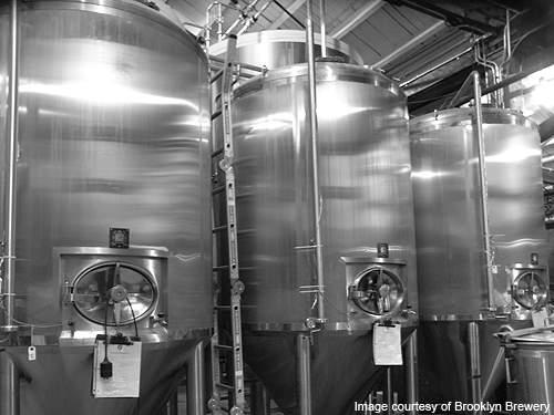 Unitanks at the Brooklyn Brewery.