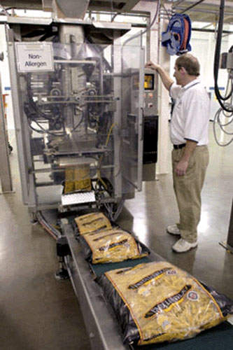 Form-fill-seal packaging machine.