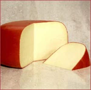 Gouda cheese produced at the Falkenberg dairy plant.