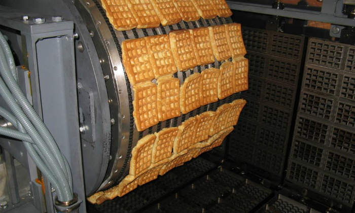 automatic waffle oven